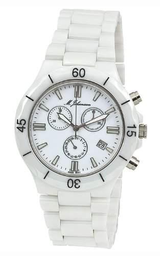 MJohansson Herren Keramik Chronograph Armband Uhr MaconasW