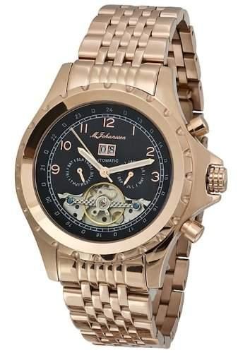MJohansson Vergoldet Herren Automatik Armband Uhr KaloeRgRgB