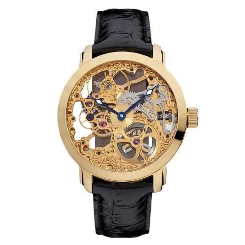 Ansgar Kjeld Vergoldet Herren Armband Skelett Uhr SkiveLGG