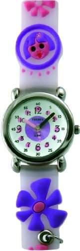 Trendy Kiddy Maedchen-Armbanduhr Analog mehrfarbig KL54