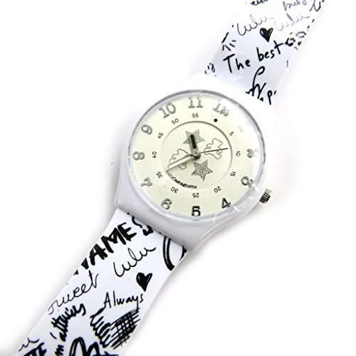 Armbanduhr french touch Lulu Castagnetteschwarz weiss graffiti
