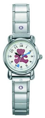Lulu Castagnette Maedchen-Armbanduhr Analog grau 38389
