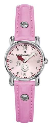 Lulu Castagnette Maedchen-Armbanduhr Analog rosa 38630