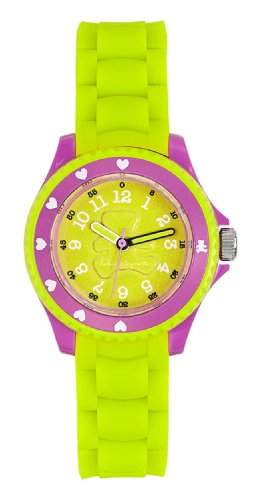 Lulu Castagnette 38691-Maedchen-Armbanduhr Analog Kunststoff Gruen