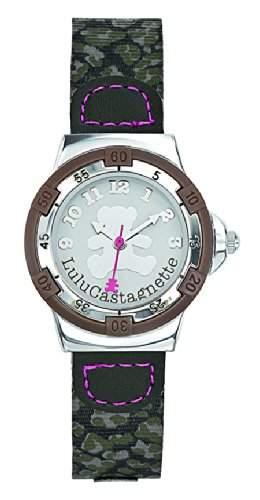 Lulu Castagnette, 38736 Maedchen-Armbanduhr Analog, Zifferblatt Analog Stoff, Beige