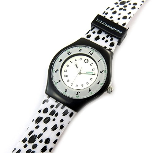 Armbanduhr french touch Lulu Castagnetteschwarz weiss dalmatiner