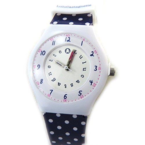Armbanduhr french touch Lulu Castagnetteweiss purpur erbsen