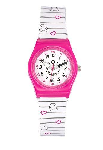 Lulu Castagnette 38773 Analog Weisses Ziffernblatt Armband Kunststoff Mehrfarbig