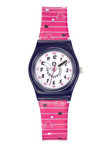 Lulu Castagnette 38777 Analog Weisses Ziffernblatt Armband Kunststoff Mehrfarbig