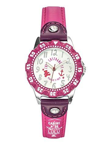 Lulu Castagnette 38768 Analog Zifferblatt Silber Armband Leder violett
