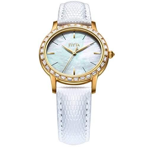 FIYTA Damen Zirkonia Quarz Uhr - Exquisite