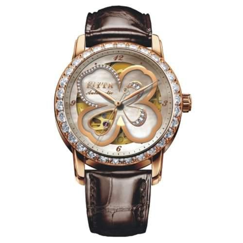 FIYTA Damen Zirkonia Automatik Uhr - Klover