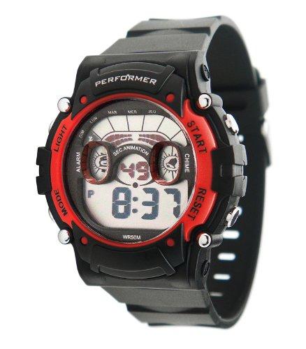Performer 70612632 Zeigt Jungen Quartz Digital Zifferblatt LCD Armband Kunststoff schwarz
