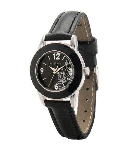 Performer 7078222 Quarz Analog Zifferblatt schwarz Armband Leder schwarz