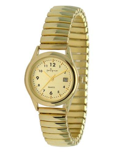 Performer 70810672 Damen Armbanduhr 045J699 Analog gold Armband Metall gold