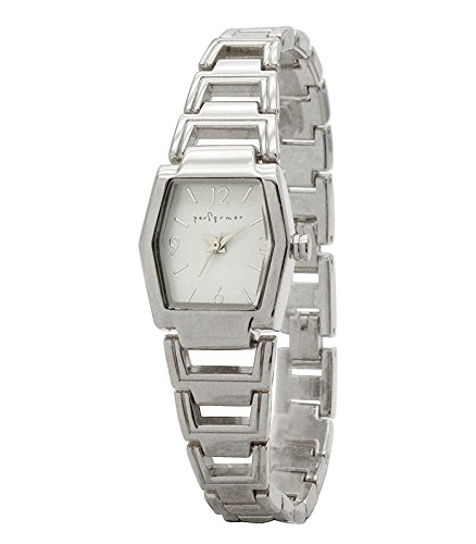 Performer 70820712 Damen Armbanduhr 045J699 Analog weiss Armband Stahl Silber