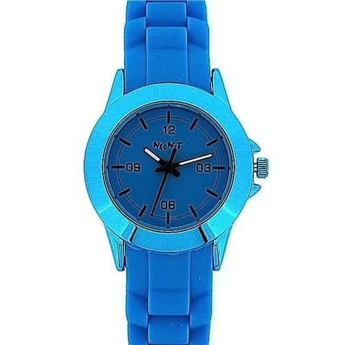 NEON-T Analoge Unisex Sport-Armbanduhr komplett blau mit Silikon-Armband NE049