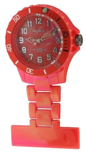 Neon T Unisex-Armbanduhr Analog Plastik orange NE24D