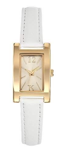 TG 10054-07 Trendy Kiss Damen-Armbanduhr Anastasie Quarz analog Leder Weiss