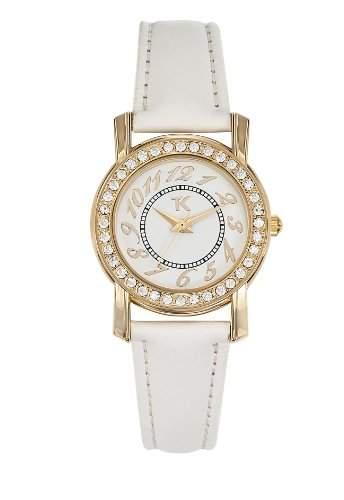 TG 10056-01 Trendy Kiss Damen-Armbanduhr Anastasie Quarz analog Leder Weiss