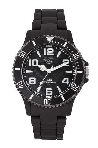 Trendy Kiss Damen-Armbanduhr Analog Plastik schwarz TP10010-05