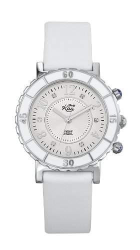 Trendy Kiss Damen-Armbanduhr Analog Leder weiss TC10001-01