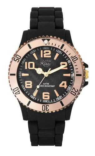 Trendy Kiss Damen-Armbanduhr Analog Plastik schwarz TP10010-04