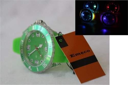 Emeco LED TREND SILIKON WATCH ARMBANDUHR UHR FLASH LED 4u4-3