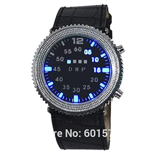 Emeco ® LED Armbanduhr Herrenuhr Damenuhr Binaer Uhr Hardlex050