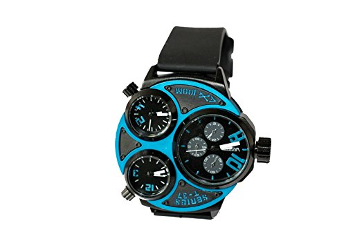 Kautschuk Tritimer Uhr Armbanduhr BLAU T37