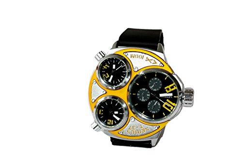 Kautschuk Tritimer Uhr Armbanduhr Orange T37