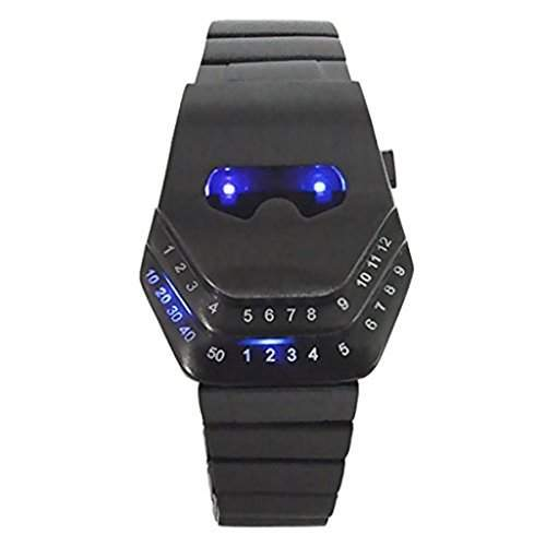 Emeco ® LED Armbanduhr Herrenuhr Damenuhr Binaer Uhr Schlangenkopf -Design blau WHLD062