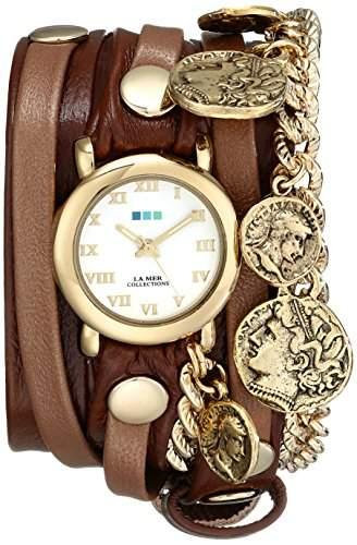 La Mer Collections Damen LMCW2005 Roman Coins Wrap Armbanduhr