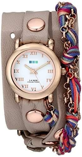 La Mer Collections Damen LMCW9006 Fuchsia Friendship Bracelet Wrap Armbanduhr