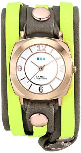La Mer Collections Damen LMDYLY1000 Neon Odyssey Layer Cement Wash Neon Layer Armbanduhr