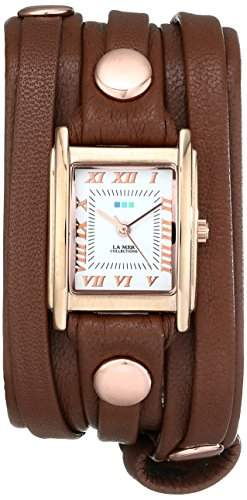 La Mer Collections Damen LMLW3000 Cognac Layered Wrap Armbanduhr