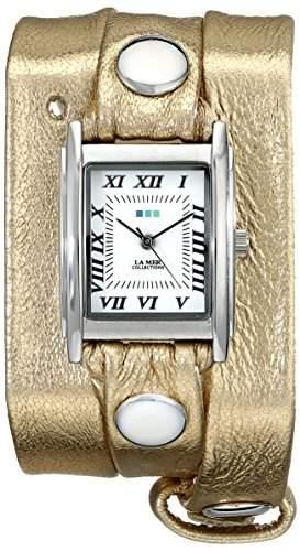 La Mer Collections Damen LMMTW1001 Metallic Gold Triple Wrap Armbanduhr