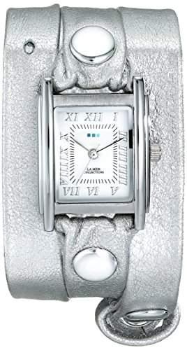 La Mer Collections Damen LMMTW1002 Silver Wrap Armbanduhr