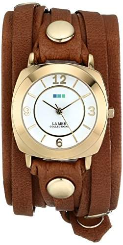La Mer Collections Damen LMODY1005 Layered Wraps Brown Washed Layered Odyssey Case Armbanduhr