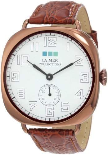 La Mer Collections Damen LMOVW2030 Brown Copper Oversized Vintage Armbanduhr
