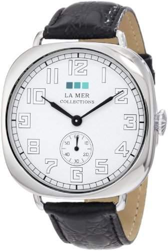 La Mer Collections Damen LMOVW2031 Black Silver Oversized Vintage Armbanduhr