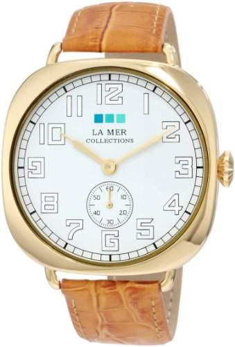 La Mer Collections Damen LMOVW2049 Tan Gold Oversized Vintage Armbanduhr