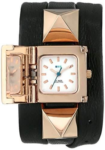 La Mer Collections Damen LMPYRAMID003 Black Rose Gold Cairo Wrap Armbanduhr