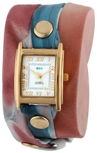 La Mer Collections Damen LMSTW3009 Malibu Red Tie Dye Wrap Armbanduhr