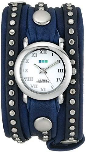La Mer Collections Damen LMSW6002 Bali Stud Collection Croatian Blue Bali Armbanduhr