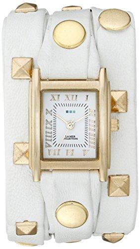 La Mer Kollektionen Damen lmlw1010e weiss gold Pyramid Display Weiss Quarz