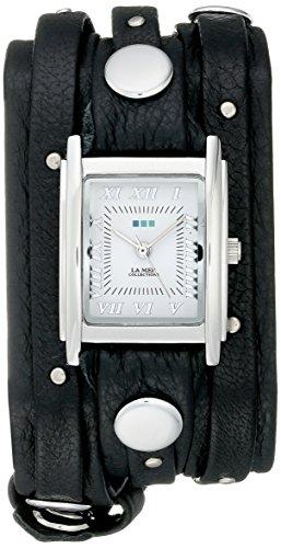 La Mer Kollektionen Damen Ohrstecker lmsw1000 schwarz silber Analog Display Quartz Black Watch