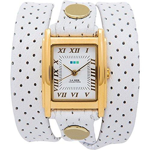 La Mer LMSTW3005 Frauen Weiss vergoldet One Size Watch
