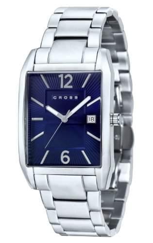 Cross Herren-Armbanduhr Gotham Analog Quarz Edelstahl CR8001-33