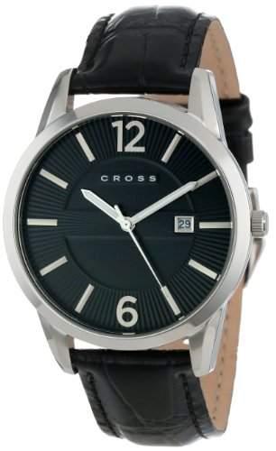 Cross Herren-Armbanduhr Gotham Analog Quarz Leder CR8002-01